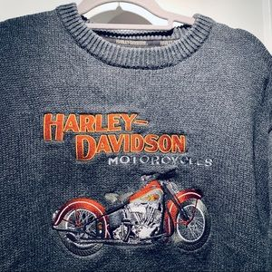 Harley Davidson crew neck sweater embroidered L